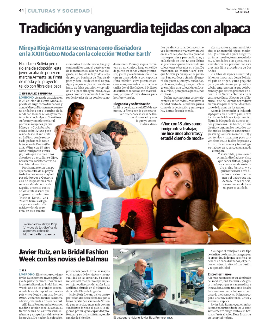 The introduction of ARMATTA is news in Spanish newspaper