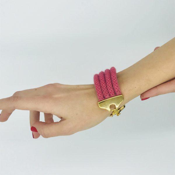 pulsera armatta alpaca rosa 2