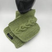 Bufanda Scarf alpaca ARMATTA verde bordada