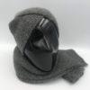 Conjunto gorro bufanda alpaca negro ARMATTA