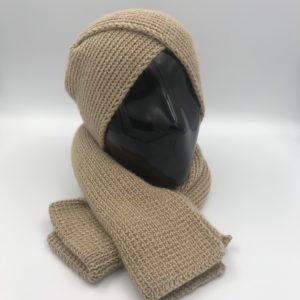 armatta conjunto bufanda gorro de alpaca marron